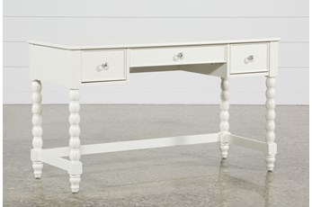 Madison White Desk With USB