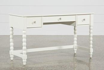"Madison White 54"" Desk With USB"
