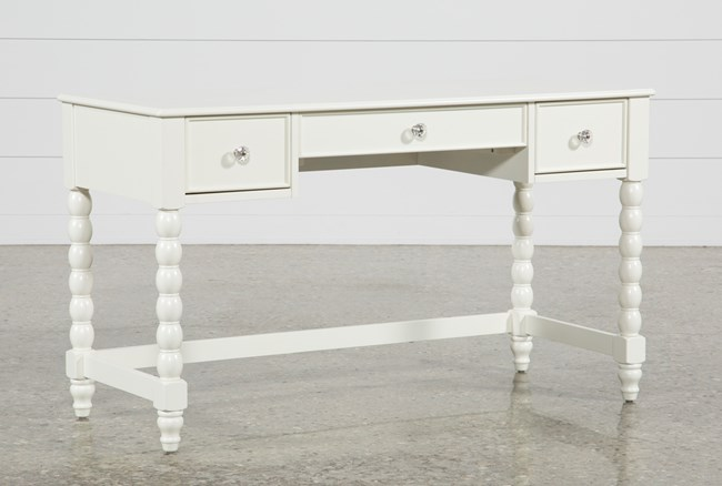 Madison White Desk - 360