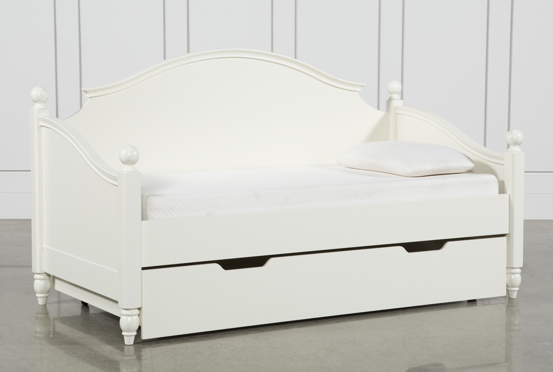 - Madison White Twin Daybed With Trundle Living Spaces