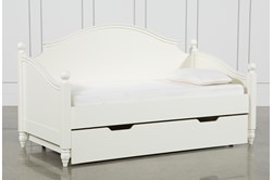 Madison White Twin Daybed With Trundle