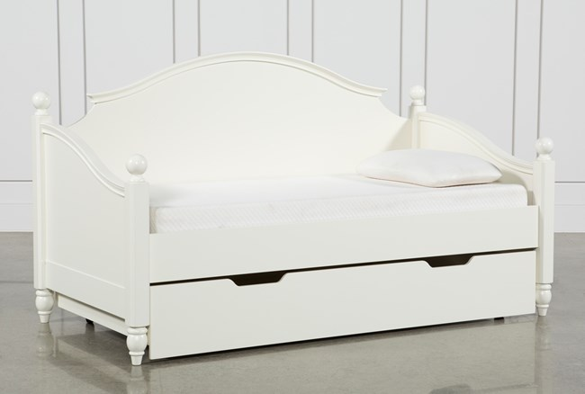 Madison White Twin Daybed With Trundle - 360