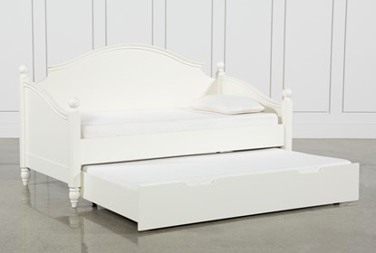 Madison White Twin Daybed With Trundle Living Spaces