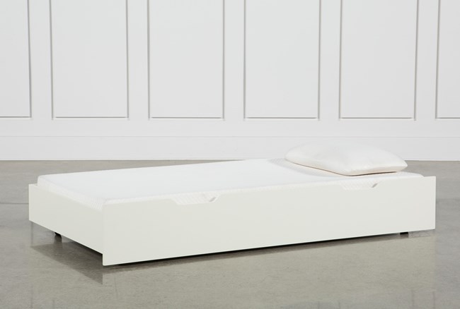 Madison White Twin Daybed Trundle - 360