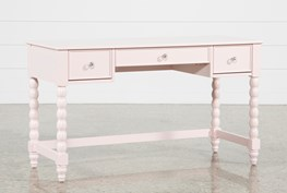 """Madison Pink 54"""" Desk With USB"""