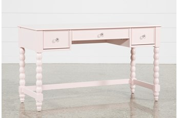 "Madison Pink 54"" Desk With USB"