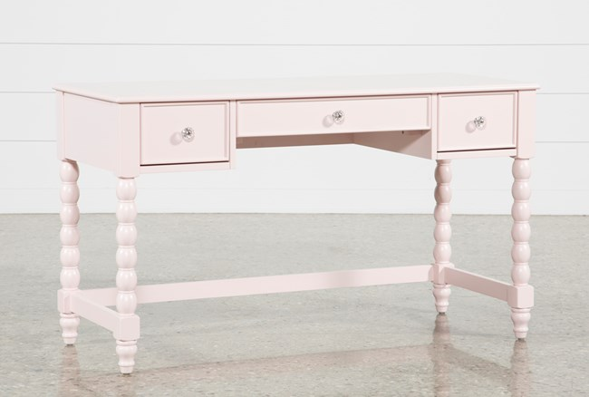 """Madison Pink 54"""" Desk With USB - 360"""
