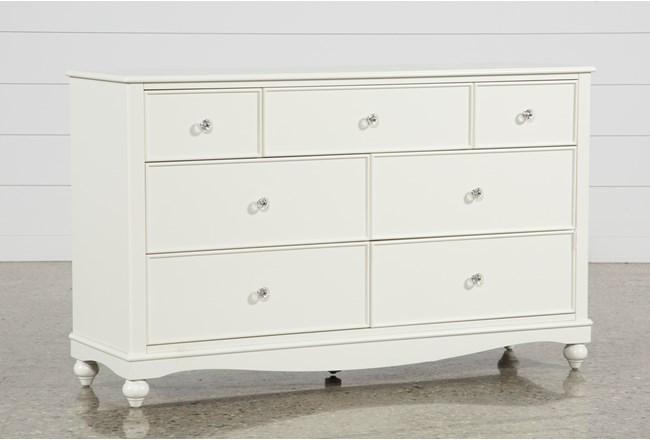 Madison White 7 Drawer Dresser - 360