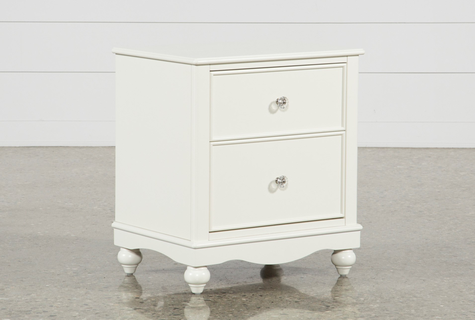 Madison White 2 Drawer Nightstand Living Spaces