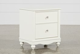Madison White 2-Drawer Nightstand