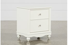 "Madison White 2-Drawer 26"" Nightstand With LED Night Light"