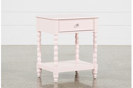 Madison Pink 1-Drawer Nightstand