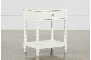 "Madison White 1-Drawer 27"" Nightstand"
