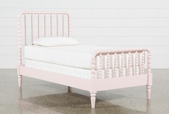 Madison Pink Twin Spindle Panel Bed