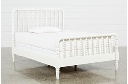 Madison White Full Spindle Panel Bed