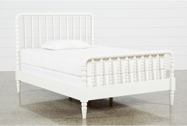 Madison White Full Spindle Panel Bed - 360