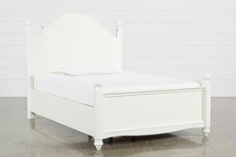 Madison White Full Poster Bed With No Storage