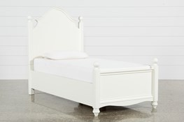 Madison White Twin Poster Bed With No Storage