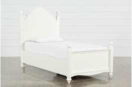 Madison White Twin Poster Bed