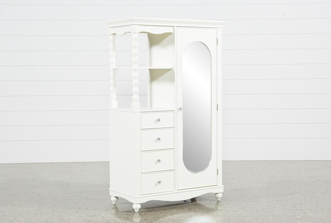 Madison White Armoire - 360