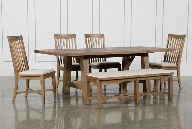 Market 6 Piece Dining Set With Side Chairs - 360