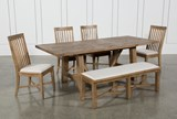Market 6 Piece Dining Set With Side Chairs - Top