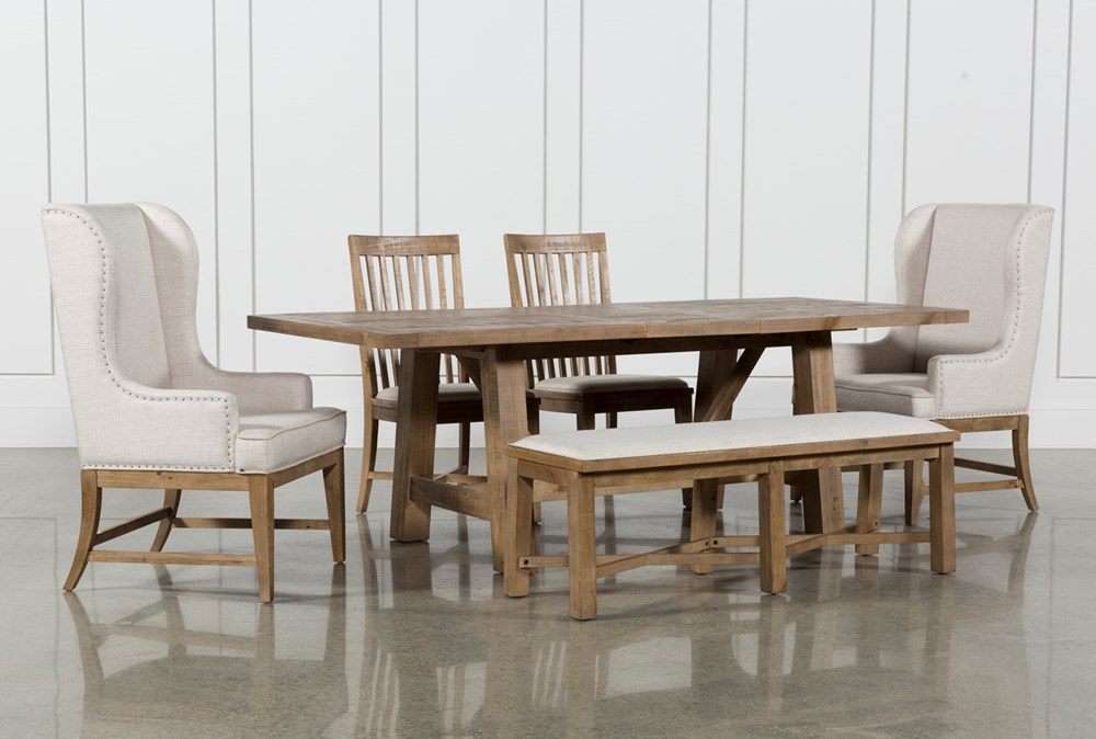 Market 6 Piece Dining Set With Host And Side Chairs