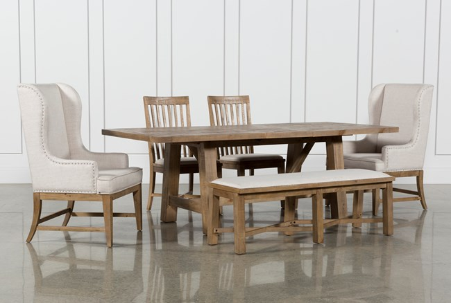 Market 6 Piece Dining Set With Host And Side Chairs - 360