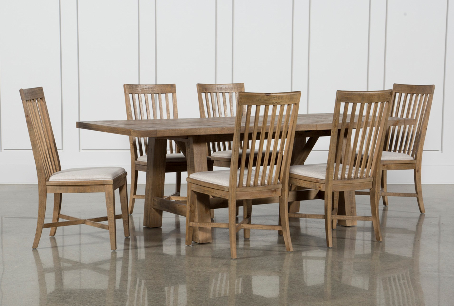 7 piece dining set modern market piece dining set with side chairs qty 1 has been successfully added to your cart living spaces
