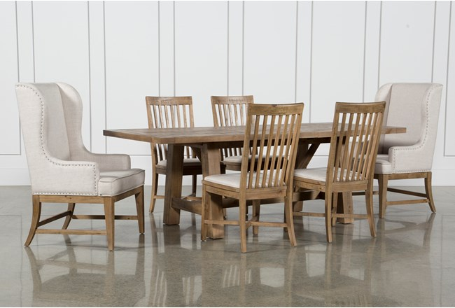 Market 7 Piece Dining Set With Host And Side Chairs - 360