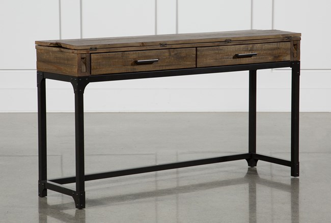 Foundry Flip-Top Console Table - 360