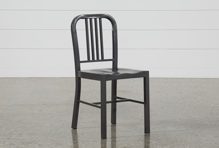 Nautical Gun Metal Side Chair