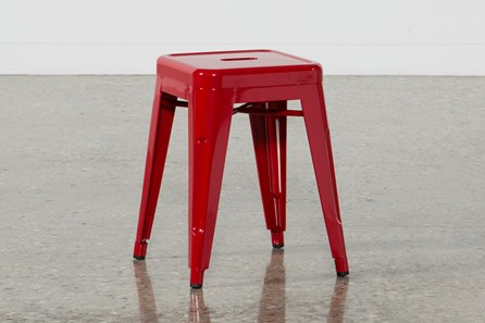 Nautical Red 18 Inch Stool
