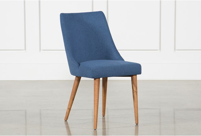 Moda Blue Dining Side Chair - 360