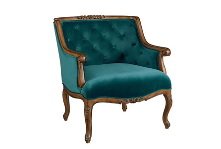 Magnolia Home Bloom Teal Accent Chair By Joanna Gaines