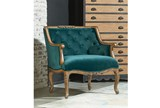 Magnolia Home Bloom Teal Accent Chair By Joanna Gaines - Room