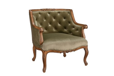 Magnolia Home Bloom Moss Accent Chair By Joanna Gaines