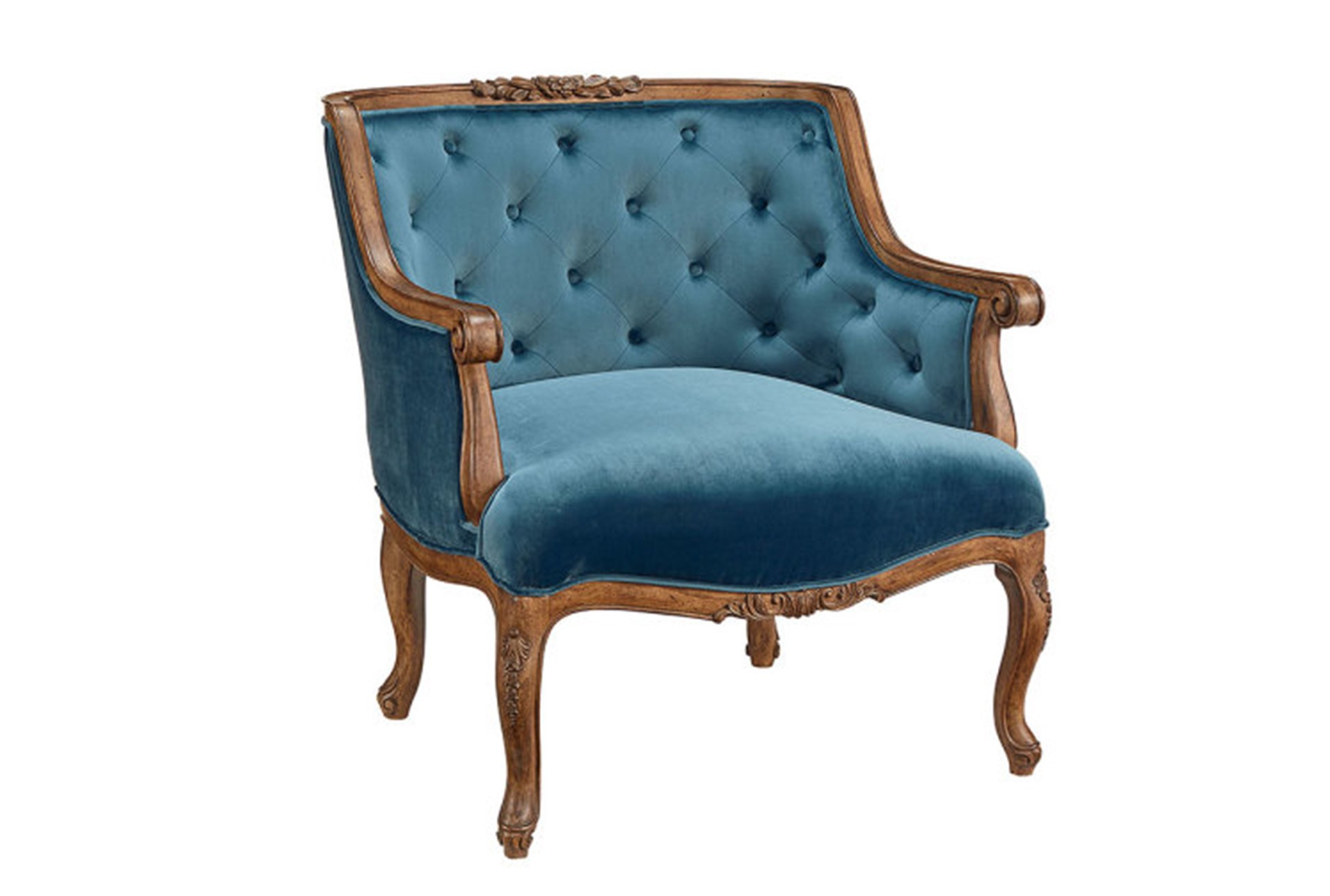 Magnolia Home Bloom Navy Accent Chair By Joanna Gaines