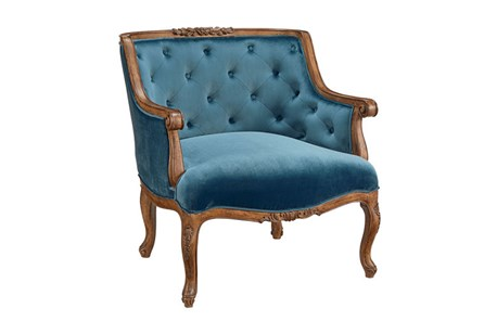 Magnolia Home Bloom Navy Accent Chair By Joanna Gaines - Main