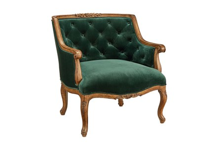 Magnolia Home Bloom Emerald Accent Chair By Joanna Gaines - Main