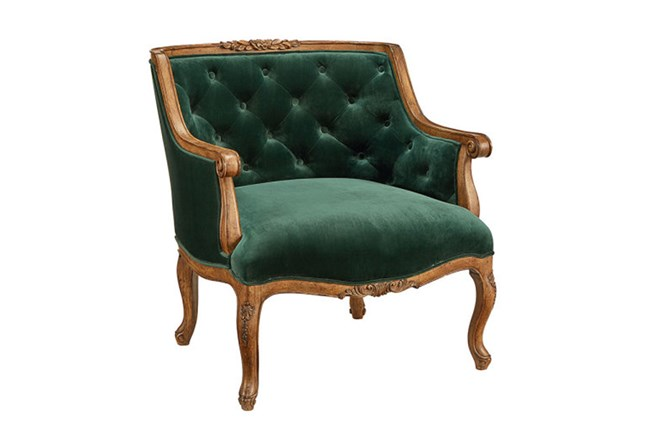 Magnolia Home Bloom Emerald Accent Chair By Joanna Gaines - 360
