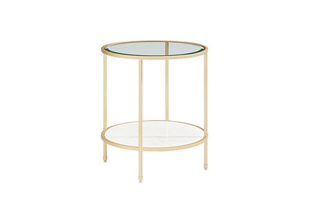 Magnolia Home Ellipse End Table By Joanna Gaines