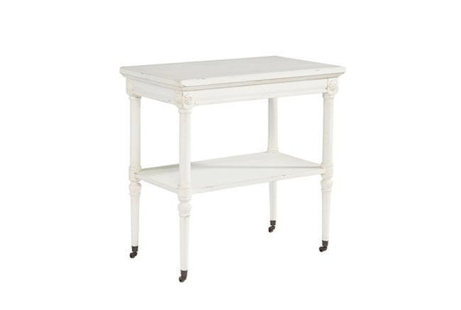 Magnolia Home Petite Rosette White Accent Table By Joanna Gaines - 360