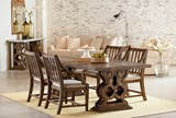 Magnolia Home Double Pedestal Dining Table By Joanna Gaines - Room