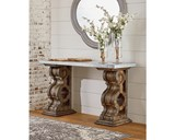 Magnolia Home Double Pedestal Sofa Table With Zinc Top By Joanna Gaines - Room