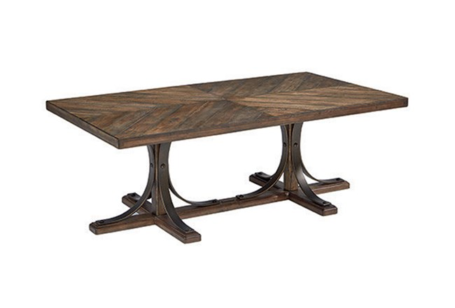 Magnolia Home Iron Trestle Coffee Table By Joanna Gaines - 360