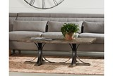 Magnolia Home Iron Trestle Cocktail Table By Joanna Gaines - Room