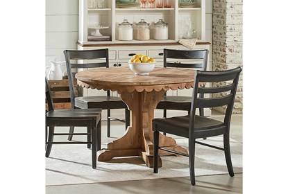 Astonishing Magnolia Home Top Tier Round Dining Table By Joanna Gaines Ocoug Best Dining Table And Chair Ideas Images Ocougorg