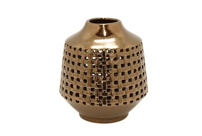 Bronze Pierced Vase - 360