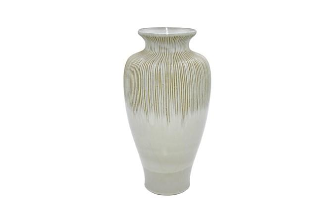 18 Inch White Ceramic Vase - 360